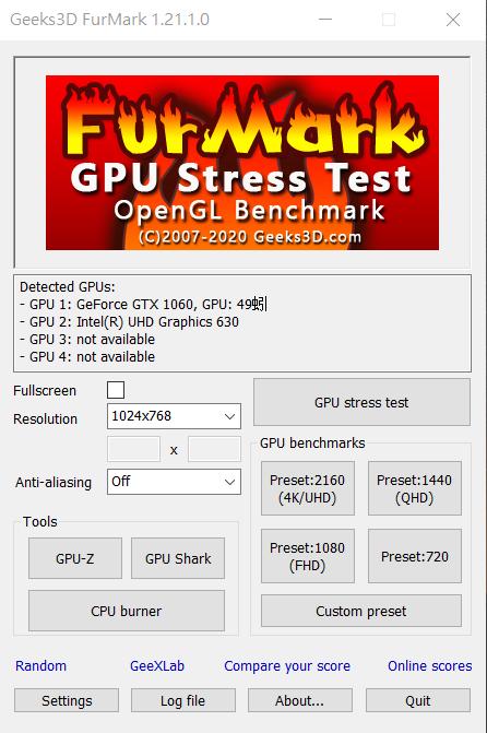 FurMark最強顯示卡測試工具 – 穩定性/效能測試、暴力燒機